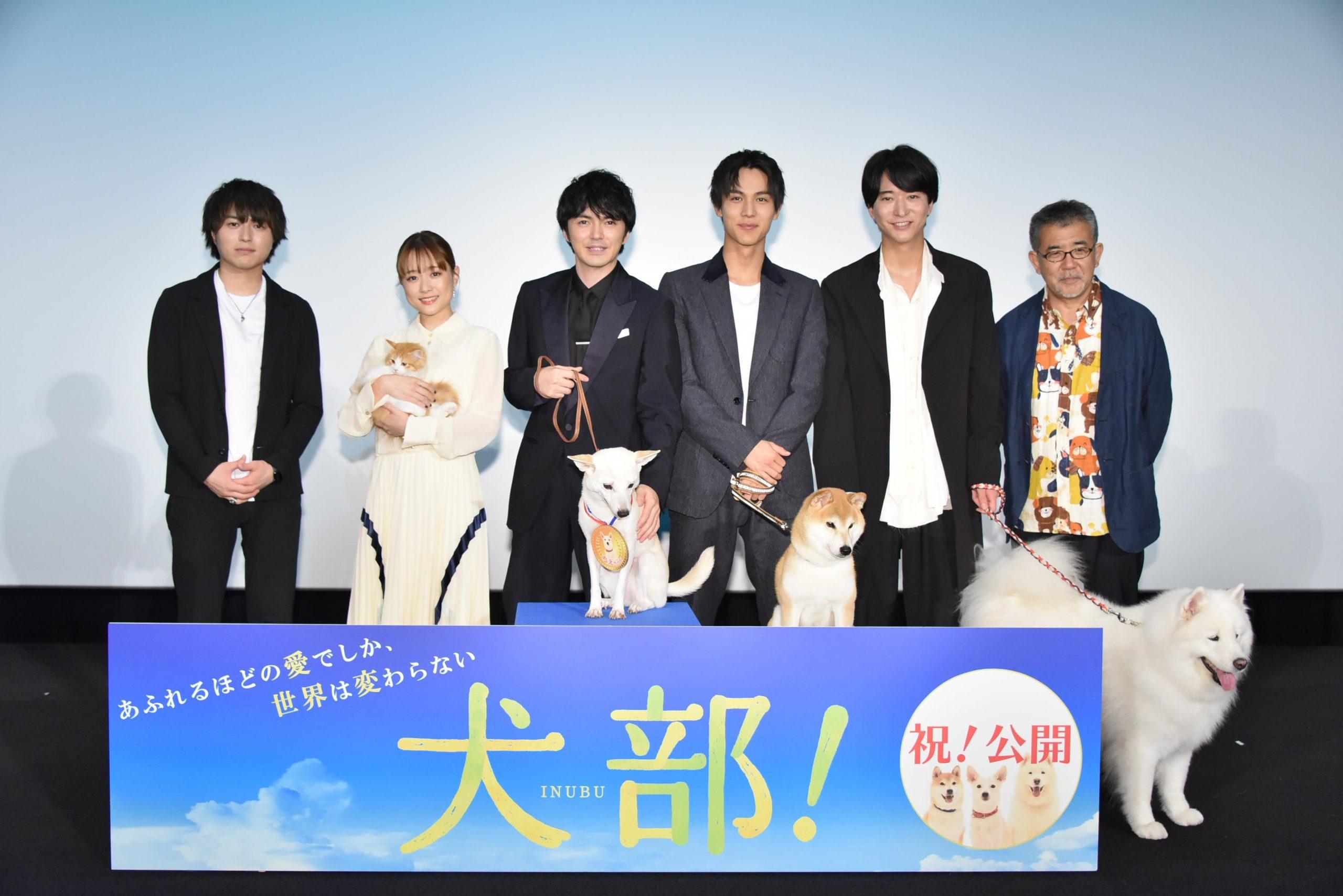 映画『犬部!』感謝を込めて…林遣都から相棒犬へ日本最速金メダルを授与!「動物たちの未来が明るくなる事を心から祈ります」<br>Novelbright 竹中雄大は主題歌をアカペラで初歌唱!公開初日を祝福!